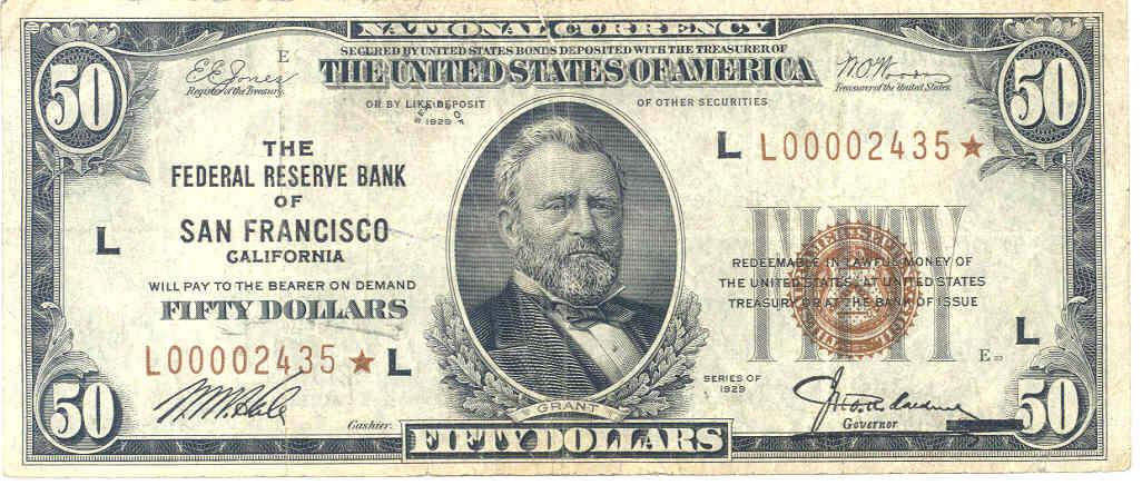 Fr 2128 K* 2004 Fifty Dollar Star Note 50 Dallas PCGS Graded 64 Very Choice New